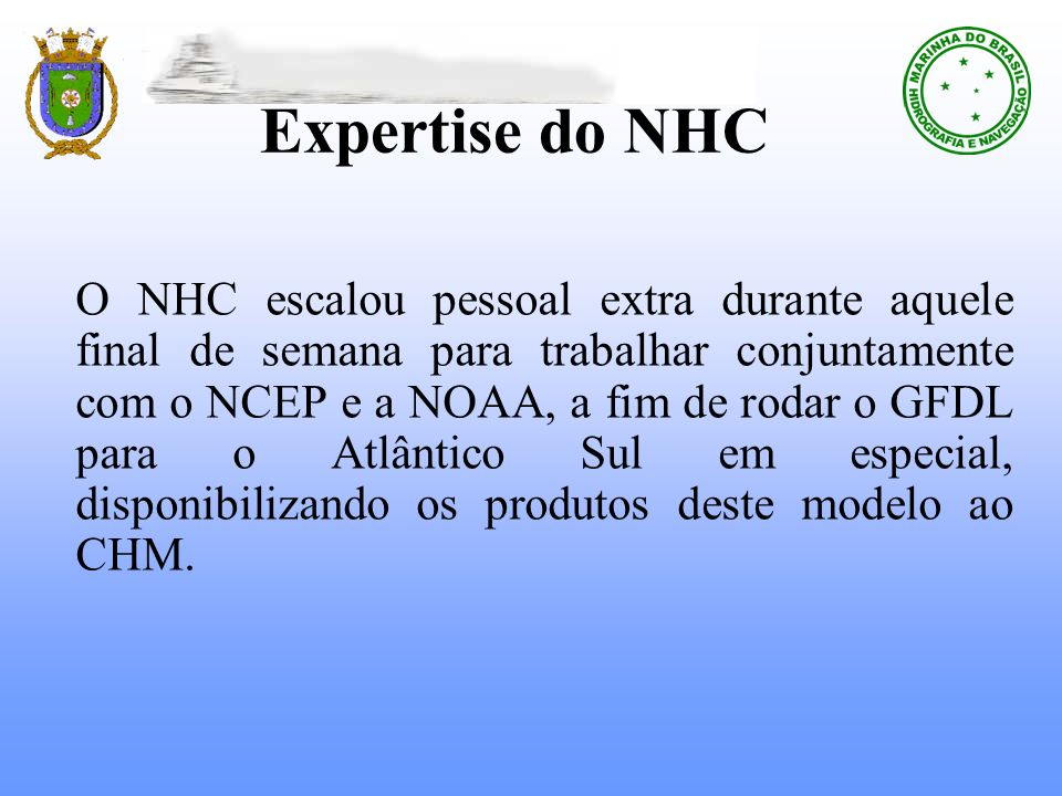 Expertise do NHC