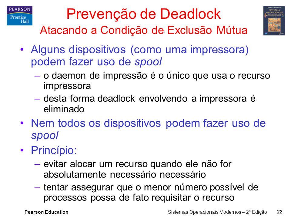 Prevenção de Deadlock Atacando a Condição de Exclusão Mútua