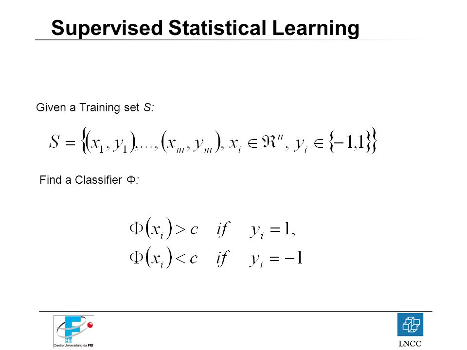 Supervised Statistical Learning