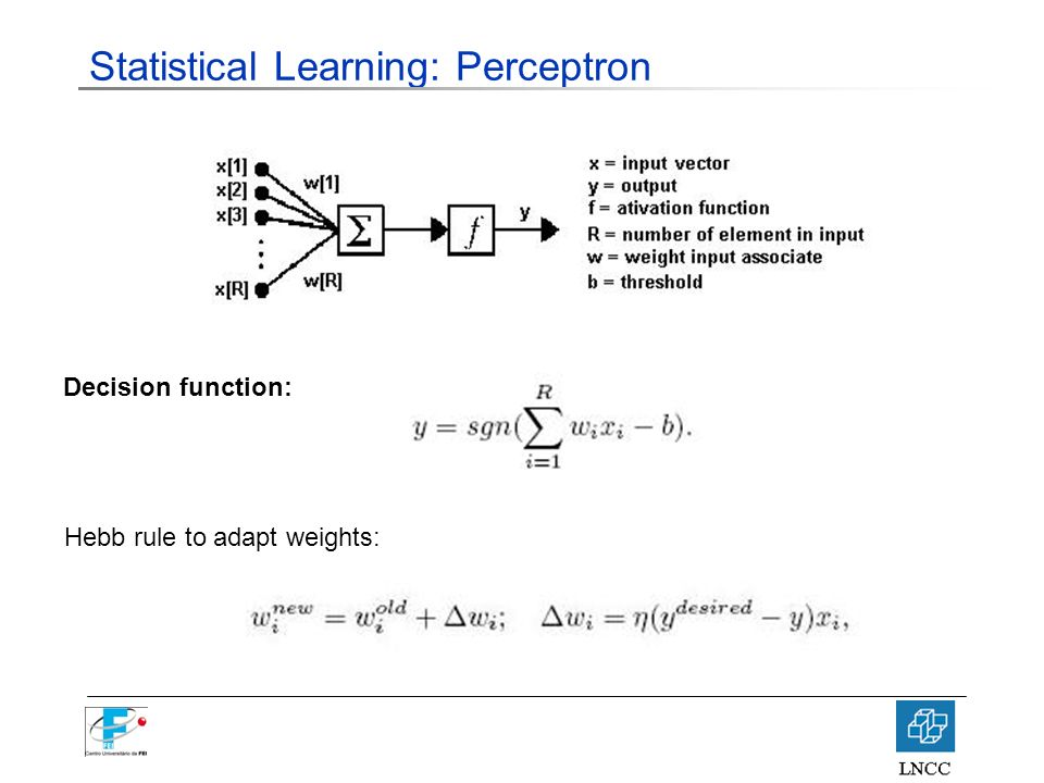 Statistical Learning: Perceptron