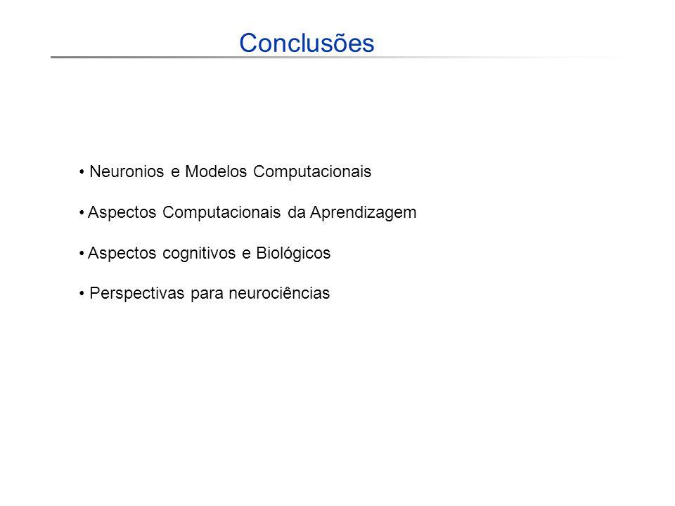 Conclusões Neuronios e Modelos Computacionais