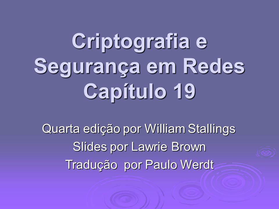 Criptografia e Segurança em Redes Capítulo 19
