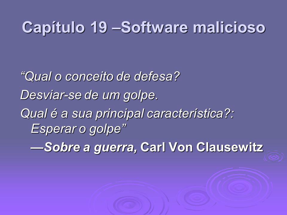 Capítulo 19 –Software malicioso