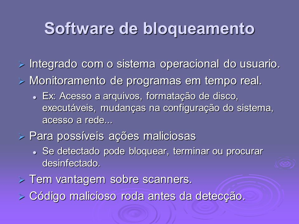 Software de bloqueamento