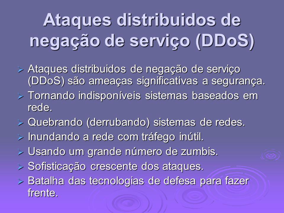 Ataques distribuidos de negação de serviço (DDoS)