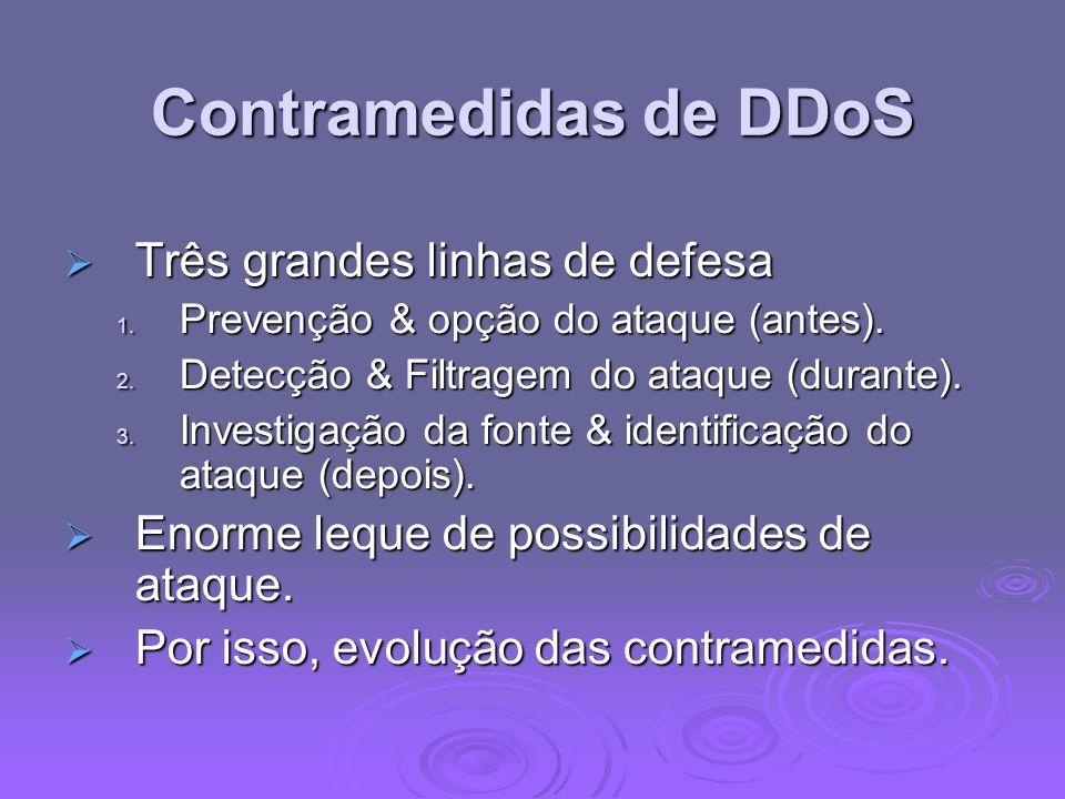 Contramedidas de DDoS Três grandes linhas de defesa