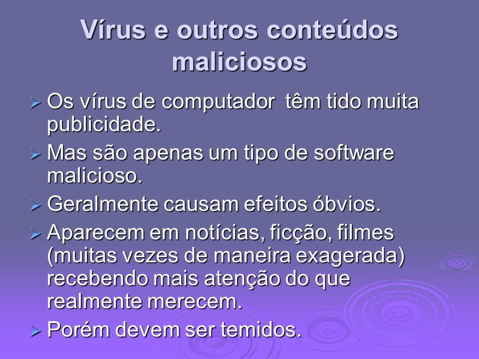 Vírus e outros conteúdos maliciosos