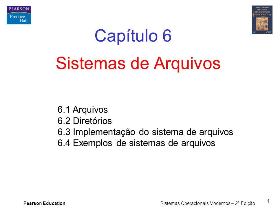 Capítulo 6 Sistemas de Arquivos 6.1 Arquivos 6.2 Diretórios