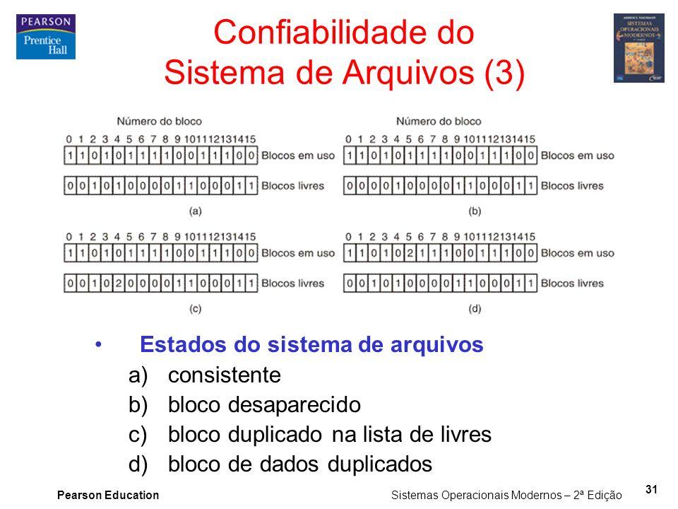 Confiabilidade do Sistema de Arquivos (3)