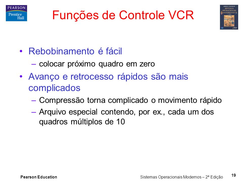 Funções de Controle VCR