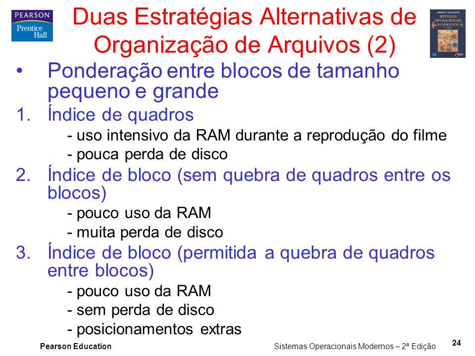 Duas Estratégias Alternativas de Organização de Arquivos (2)