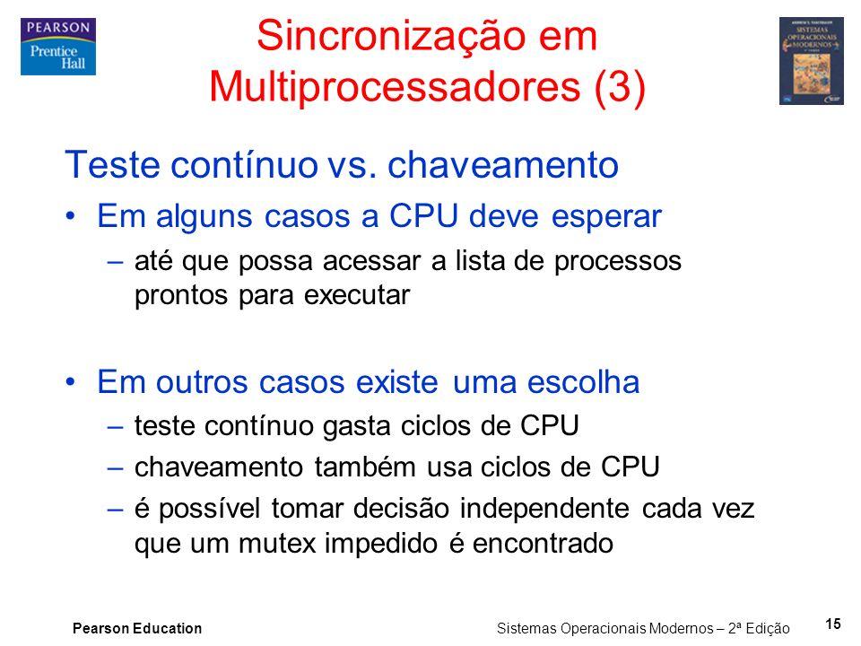 Sincronização em Multiprocessadores (3)