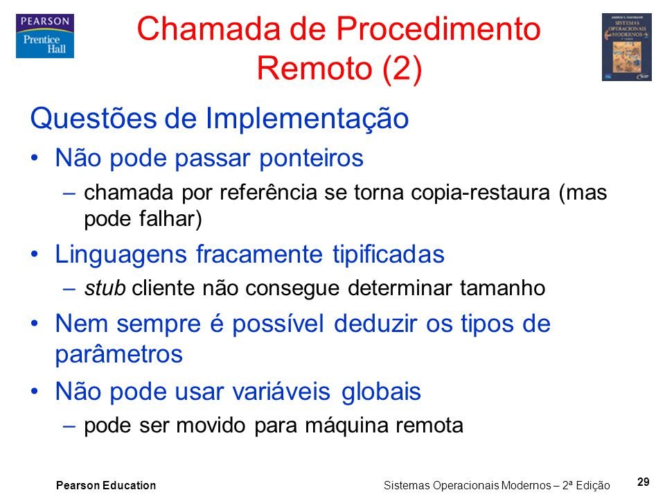 Chamada de Procedimento Remoto (2)