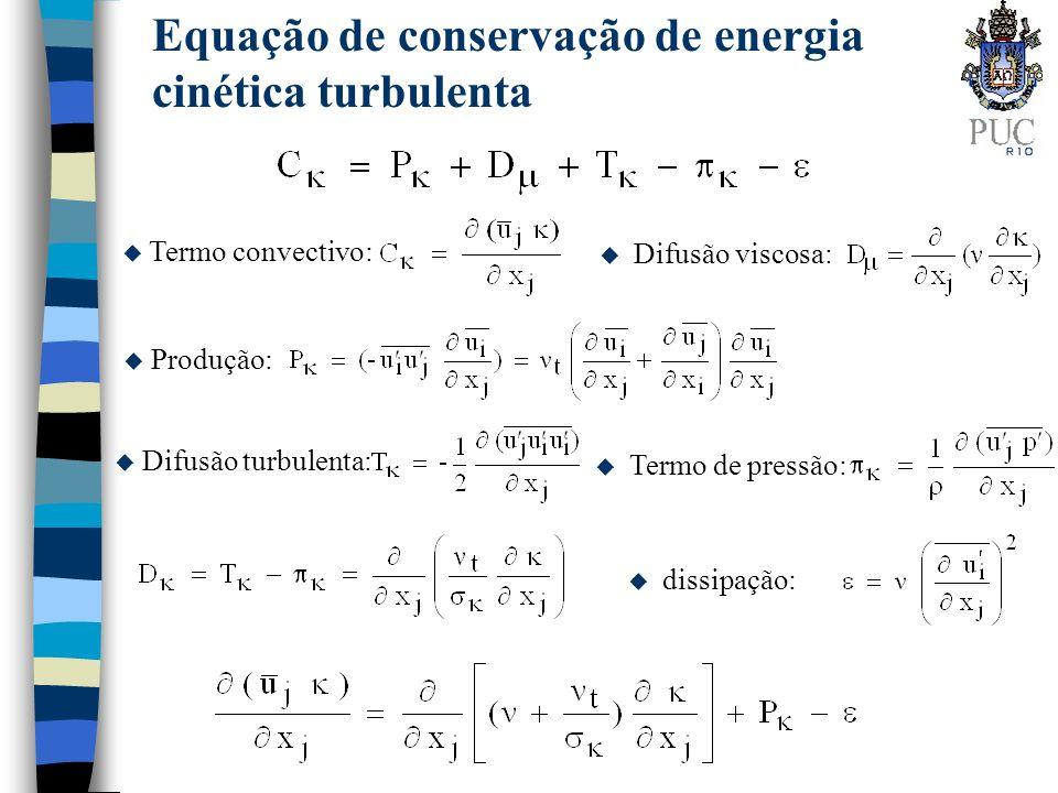 Equação de conservação de energia cinética turbulenta