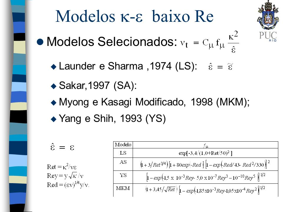 Modelos - baixo Re Modelos Selecionados: