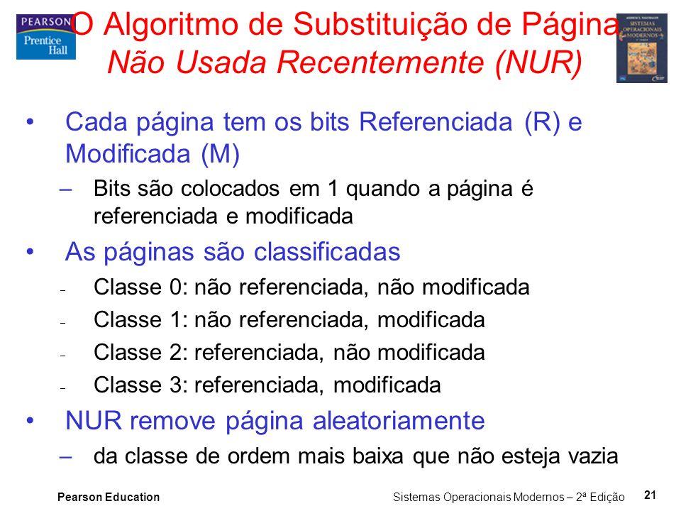 O Algoritmo de Substituição de Página Não Usada Recentemente (NUR)