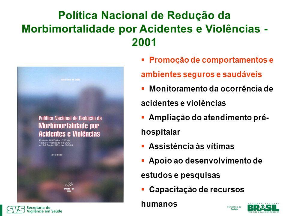 Política Nacional de Redução da Morbimortalidade por Acidentes e Violências - 2001