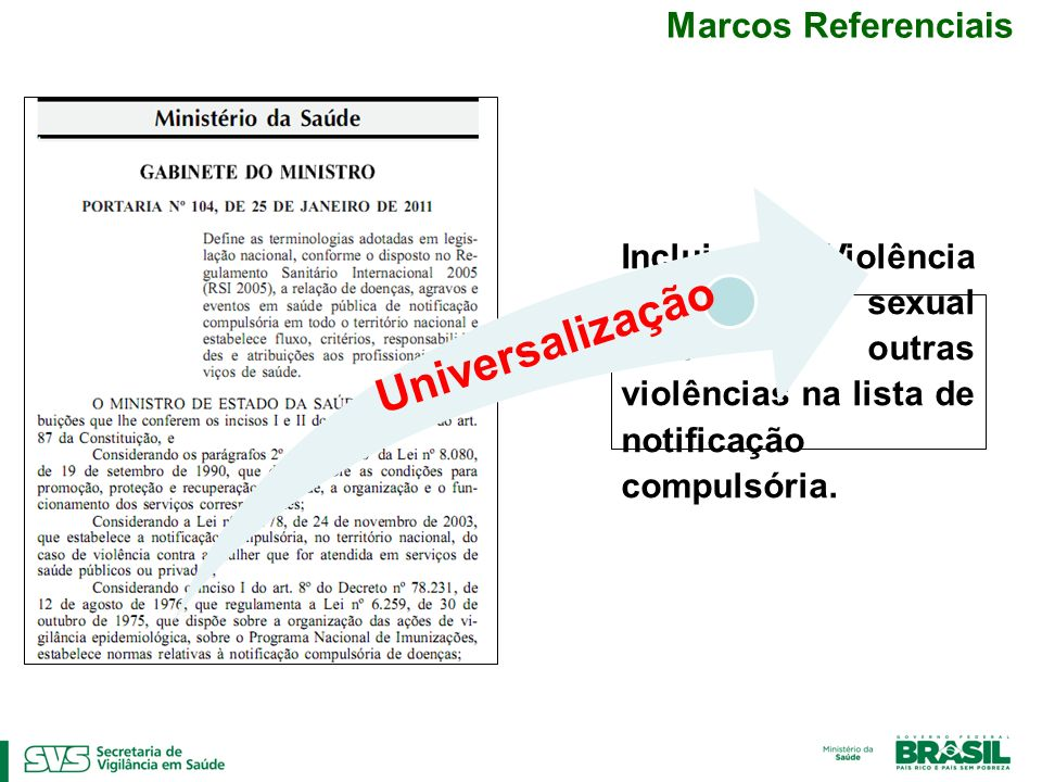 Universalização Marcos Referenciais