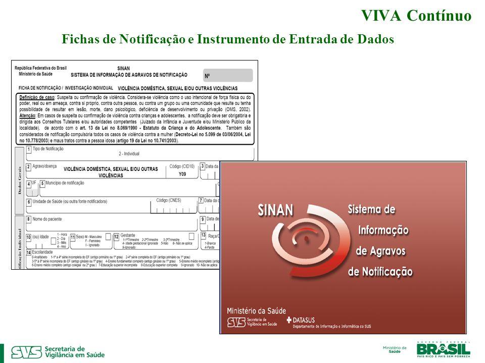 VIVA Contínuo Fichas de Notificação e Instrumento de Entrada de Dados