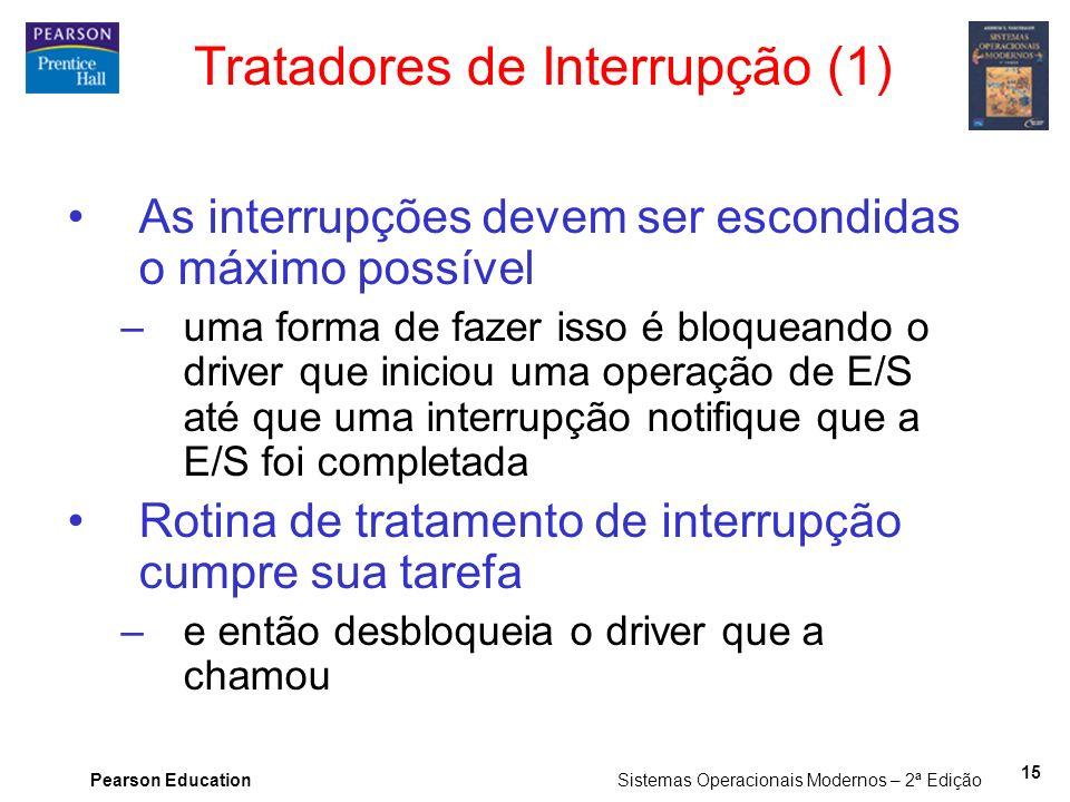 Tratadores de Interrupção (1)