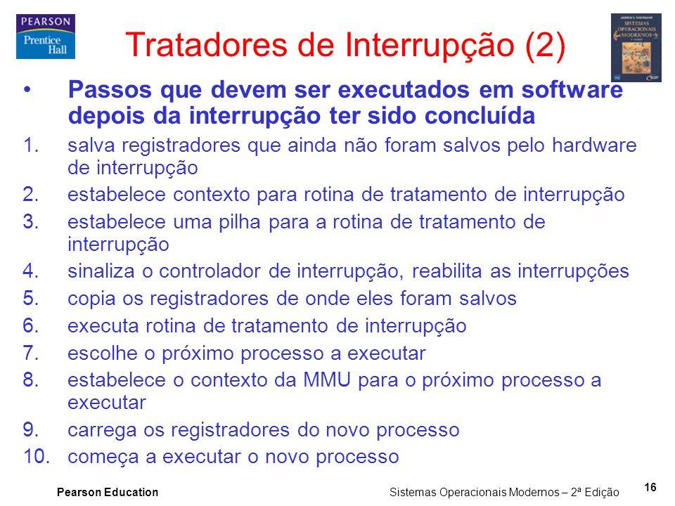 Tratadores de Interrupção (2)