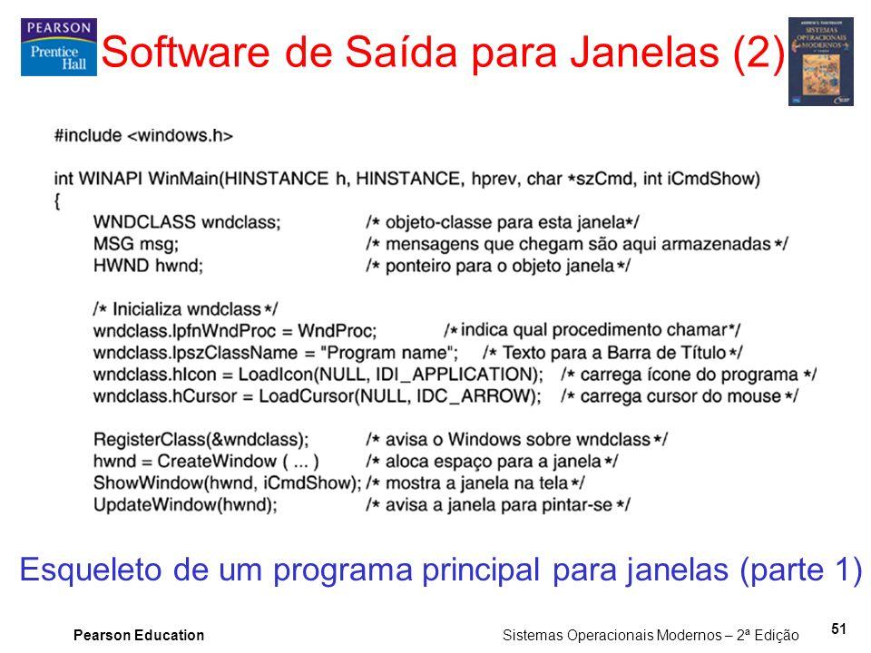 Software de Saída para Janelas (2)