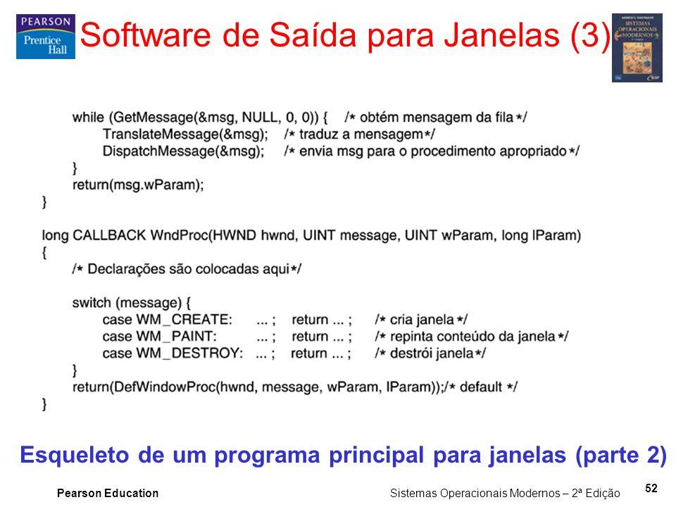 Software de Saída para Janelas (3)