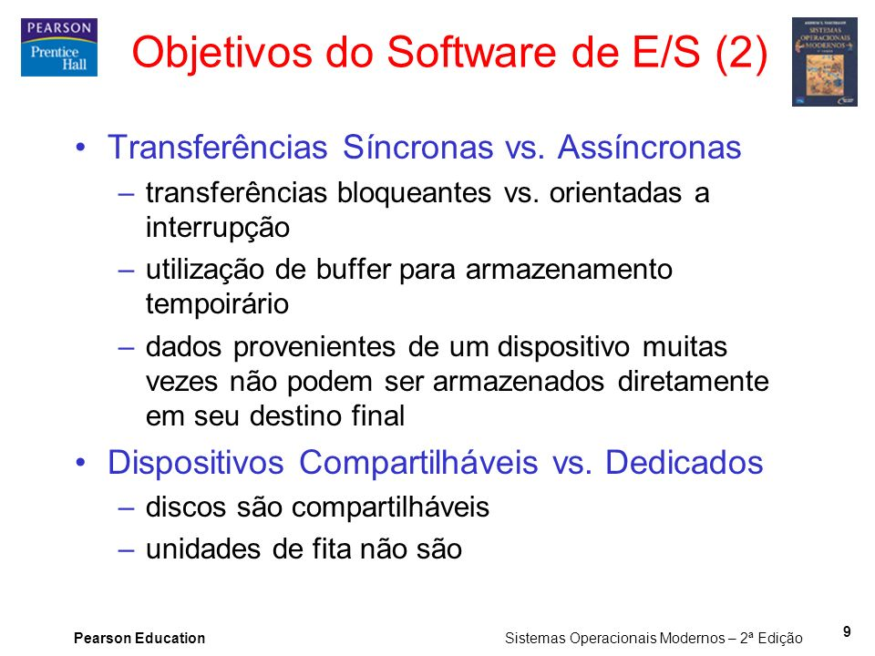 Objetivos do Software de E/S (2)