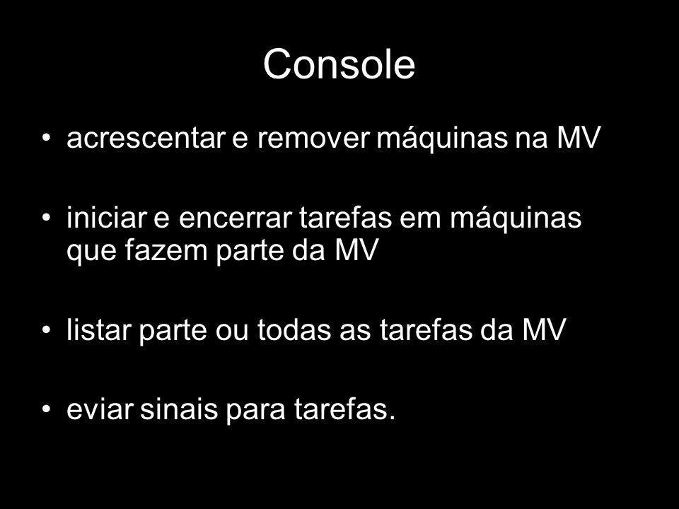 Console acrescentar e remover máquinas na MV