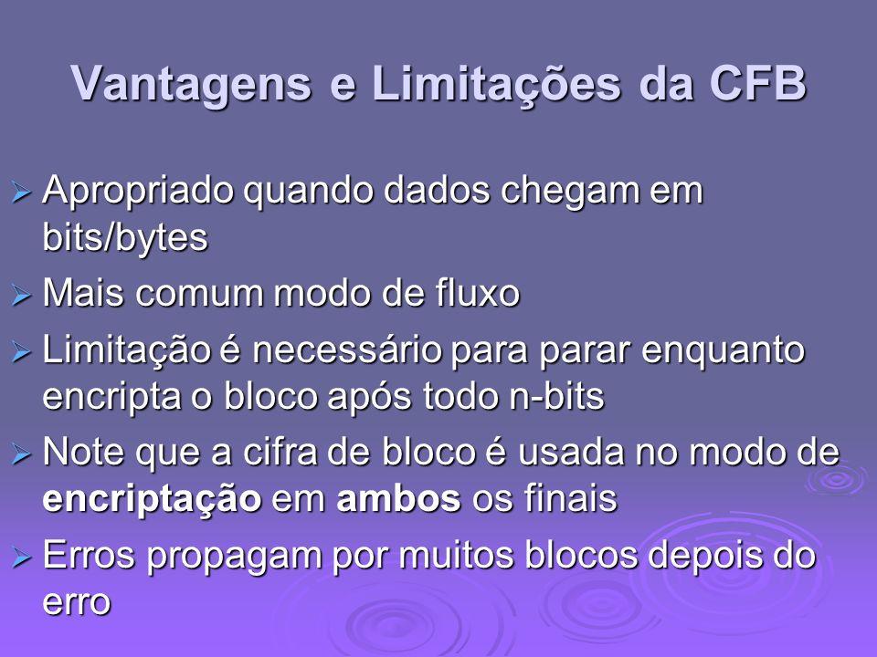 Vantagens e Limitações da CFB