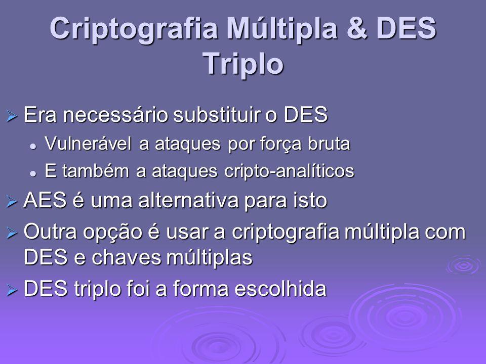 Criptografia Múltipla & DES Triplo