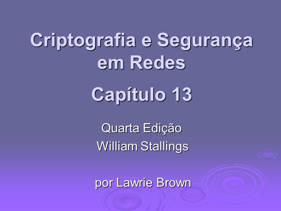 Criptografia e Segurança em Redes Capítulo 13