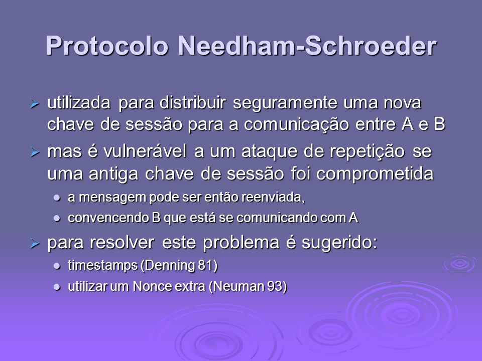 Protocolo Needham-Schroeder