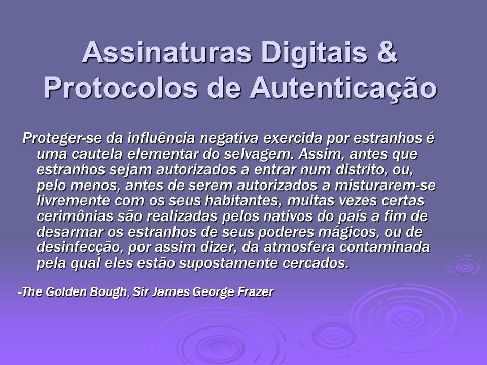 Assinaturas Digitais & Protocolos de Autenticação