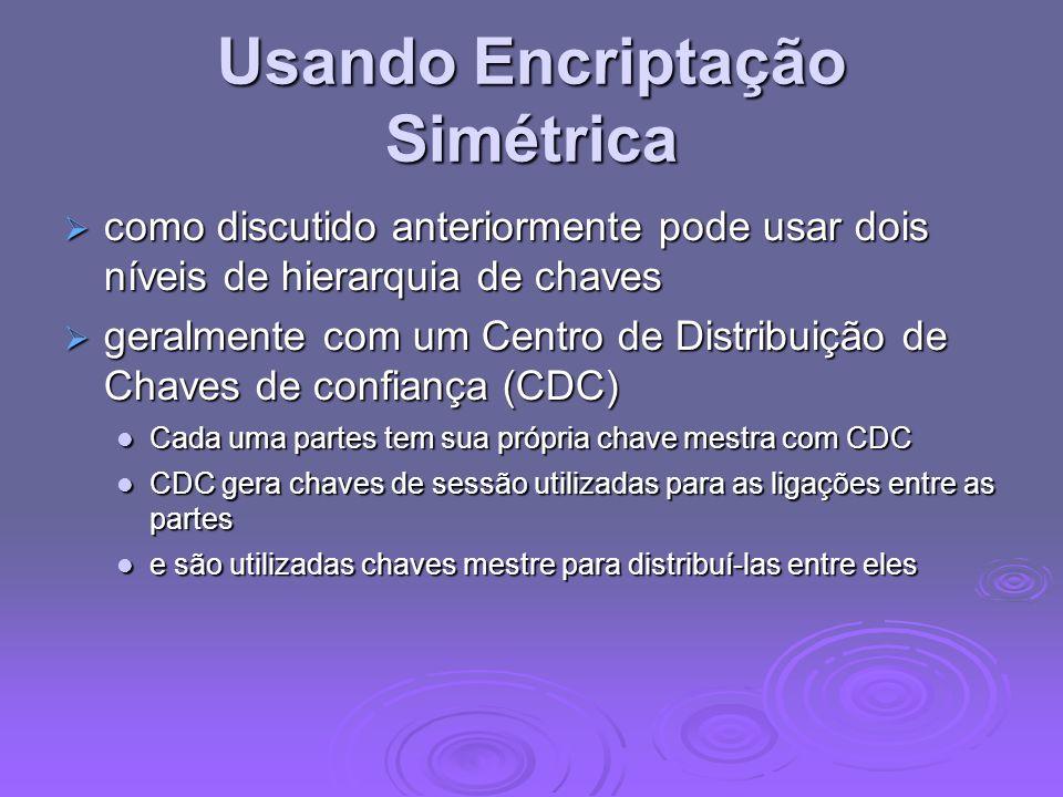 Usando Encriptação Simétrica
