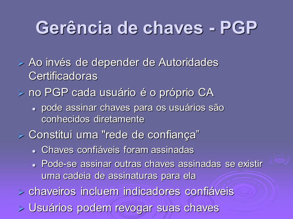 Gerência de chaves - PGP