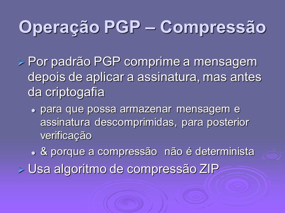 Operação PGP – Compressão