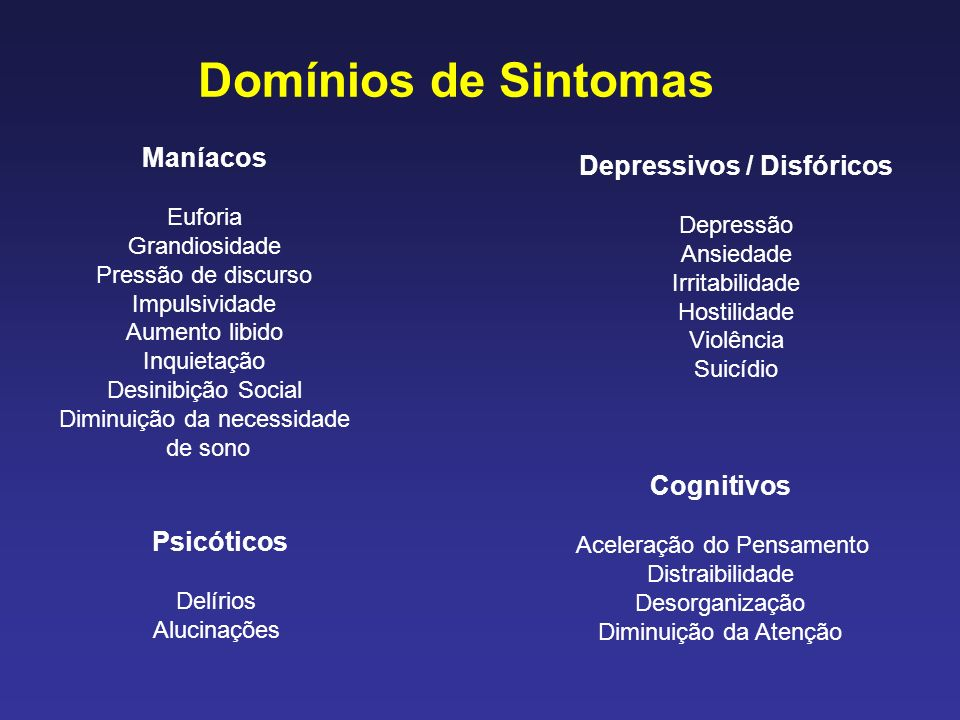 Depressivos / Disfóricos