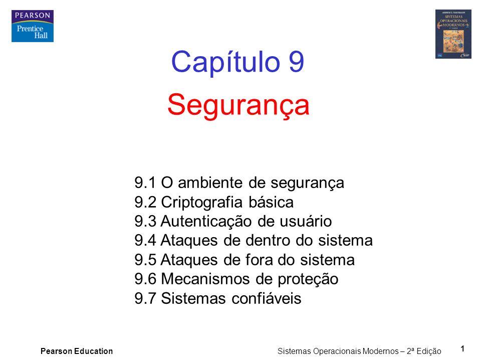 Capítulo 9 Segurança 9.1 O ambiente de segurança