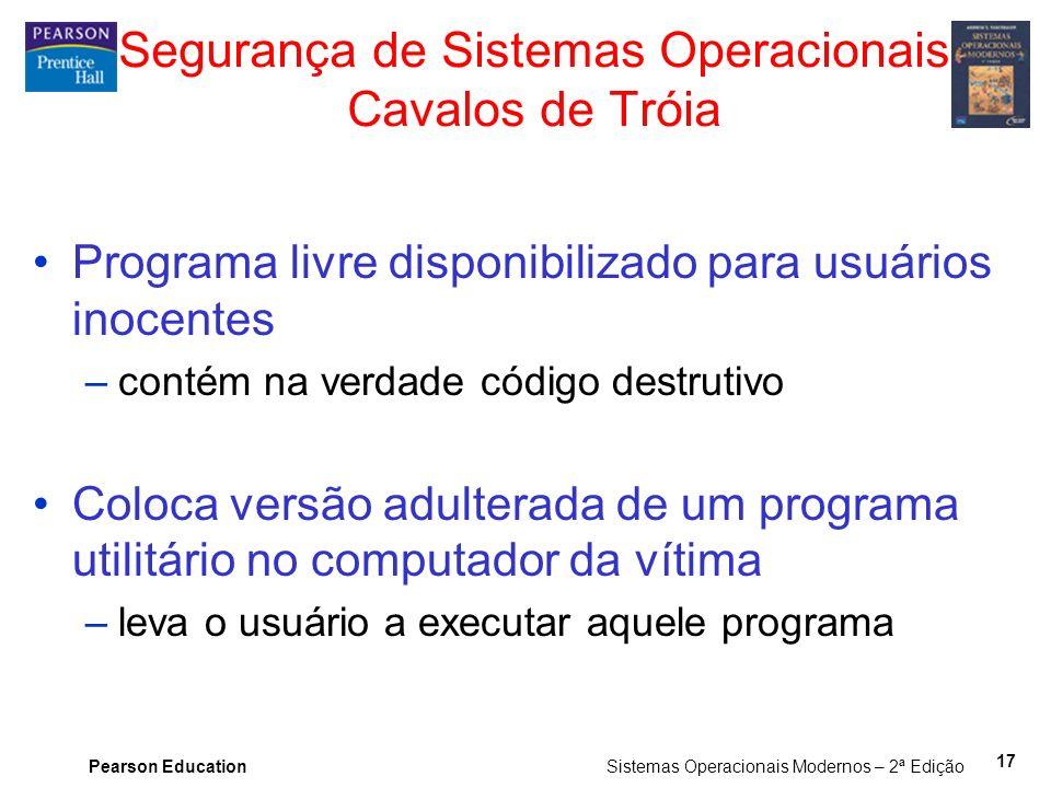 Segurança de Sistemas Operacionais Cavalos de Tróia