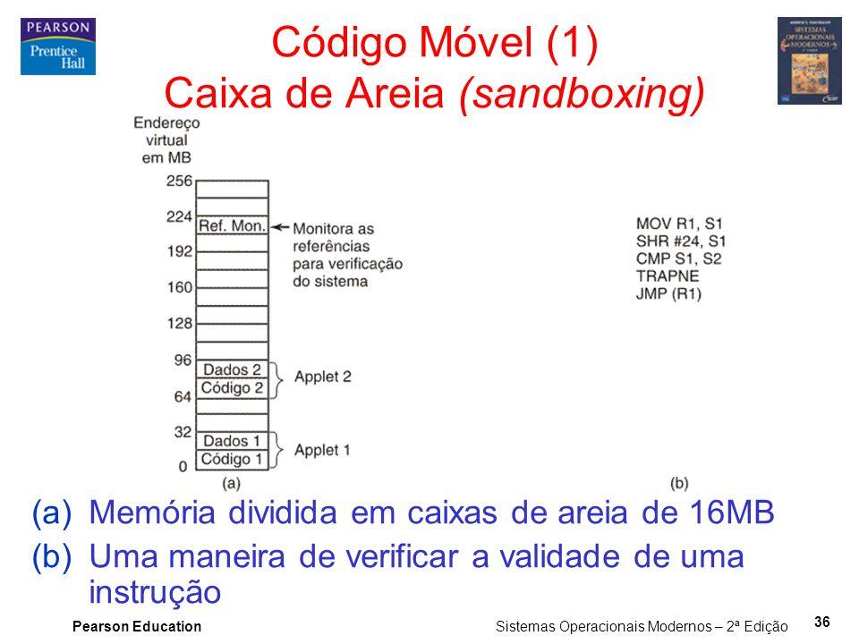 Código Móvel (1) Caixa de Areia (sandboxing)