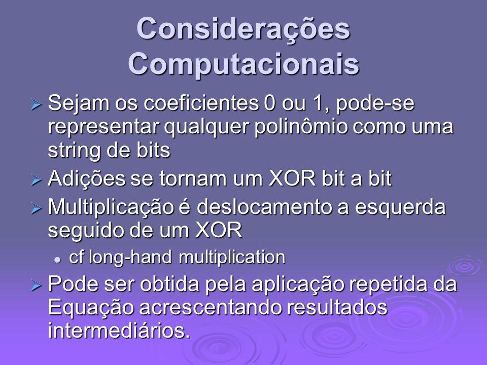 Considerações Computacionais