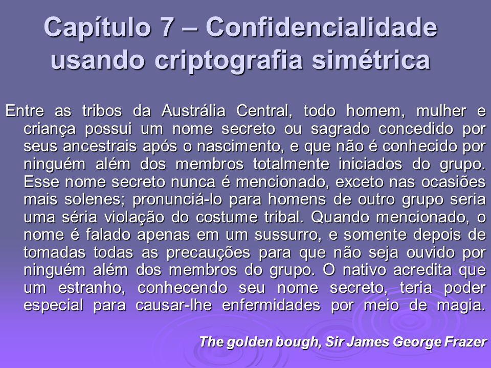 Capítulo 7 – Confidencialidade usando criptografia simétrica