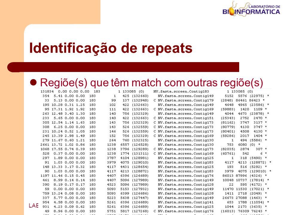 Identificação de repeats