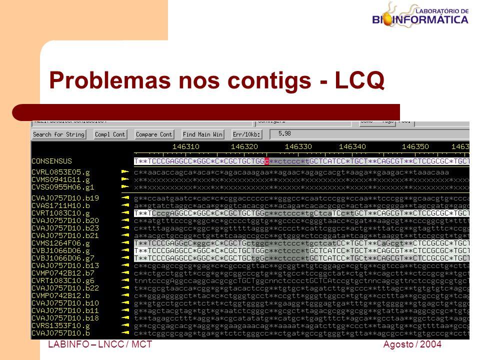 Problemas nos contigs - LCQ