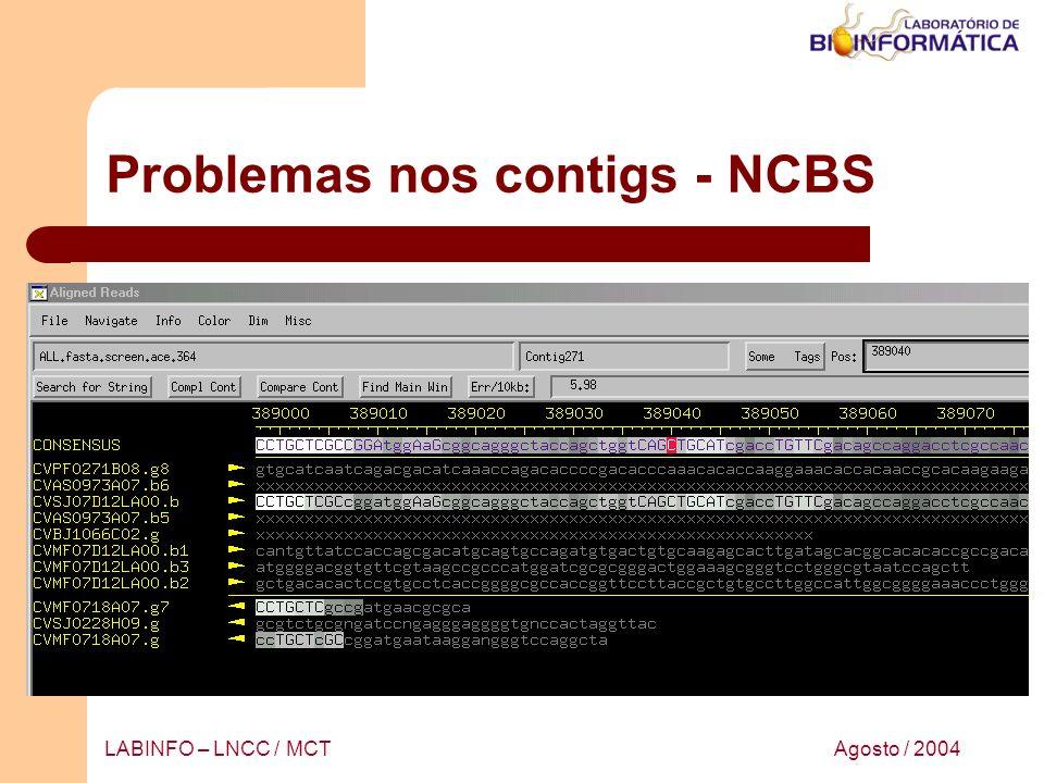 Problemas nos contigs - NCBS
