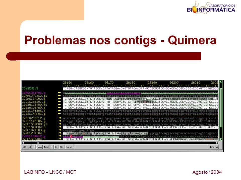 Problemas nos contigs - Quimera