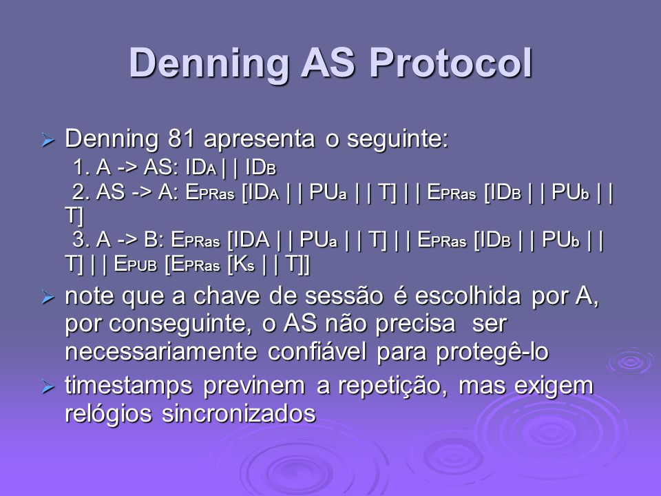 Denning AS Protocol