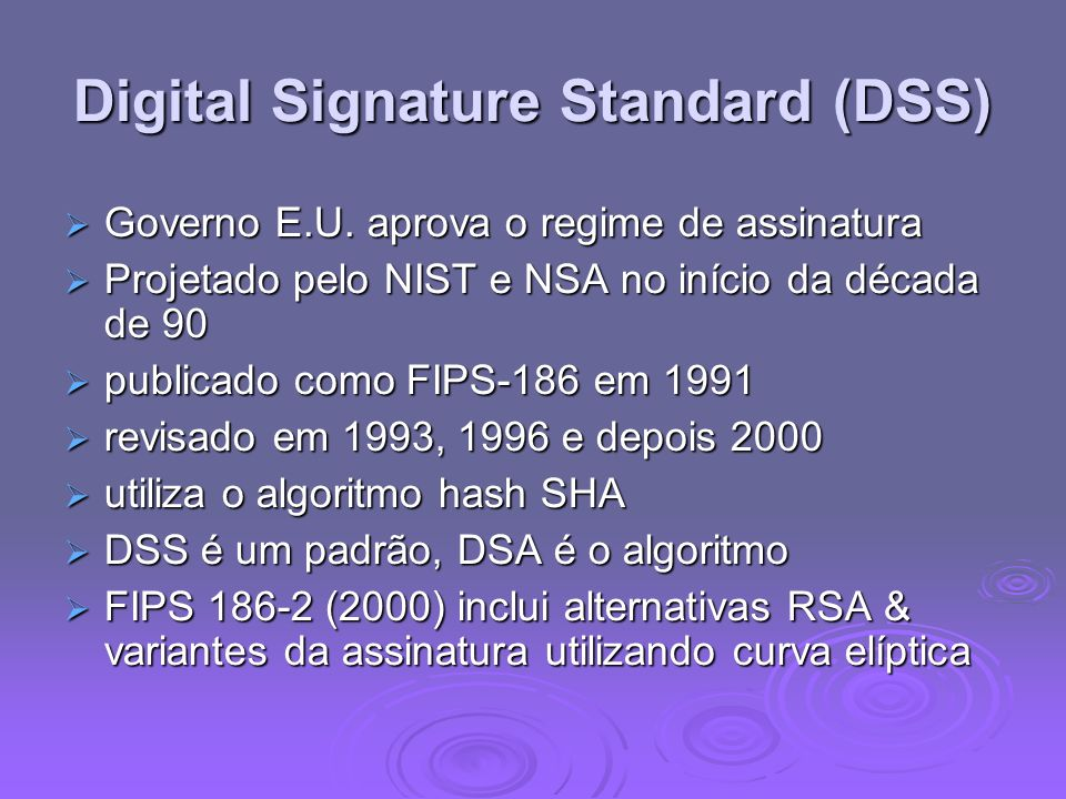 Digital Signature Standard (DSS)