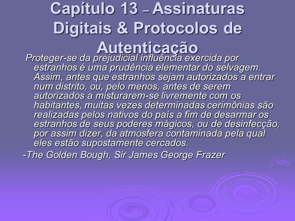 Capítulo 13 – Assinaturas Digitais & Protocolos de Autenticação